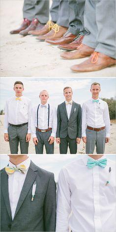 Mix and match groom and groomsmen looks. #groom #groomsmen #weddingchicks Captured By: Vis Photography ---> http://www.weddingchicks.com/2014/05/05/southwestern-inspired-wedding/