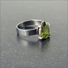 Strukova Elena - copyrights jewelry - ring with peridot