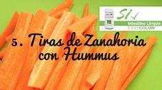 22 Snacks Saludables, Tiras de Zanahoria con Hummus