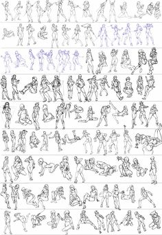 figure drawing gestures for animation
