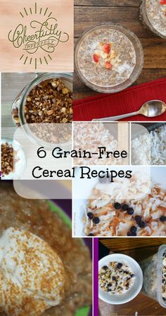 6 Grain-Free Cereal Recipes - cold cereal, hot cereal and all delicious!