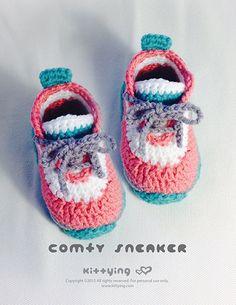 Pattern Crochet Toddler Confortável Criança Criança Sapatos Sneakers Crochet Crochet Sapatinho Crochet Pattern Children Sneakers Kids Shoes
