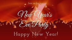 Celebrate party orange red video template 'new years eve party, Happy New Year'
