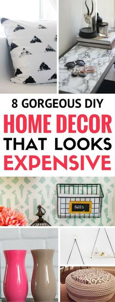 8 DIY Home Decor Ideas For Cheap - Great ways and diy projects to make you home look classy while on a budget. Easily make your bedroom or apartment decor look fantastic just by adding a few of these cheap yet classy looking decor projects. Simply love it to bits!