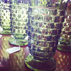 Vintage drinking glasses. We have these! Love them!