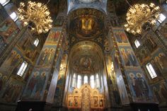 Church of the Savior on Spilled Blood is full of bright colors, twisting spires, and floor to ceiling icons. Ana Paula Hirama, Flickr