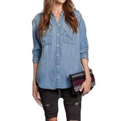 Desiree Casual Denim Top