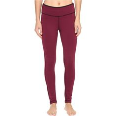 Reebok Workout Ready Reversible Tights (Maroon) Women's Workout (€23) ❤ liked on Polyvore featuring activewear, activewear pants, red, reebok, reebok sportswear and reebok activewear