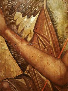 Byzantine Icons, Byzantine Art, Saint John, John The Baptist, Fresco, Style Icons, Detail, Wings, San Juan