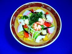 Seafood Champon Noodle Soup Dish Replica