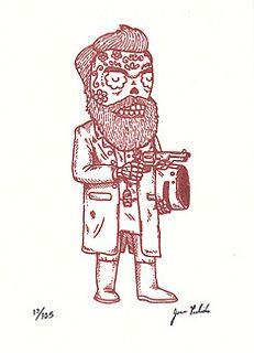 Ned Kelly Calavera Gocco Print | Flickr - Photo Sharing!