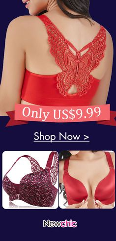 59e0690850 Butterfly Embroidery Front Closure Wireless Adjustable Gather Soft Bras   embroidery  front  closure