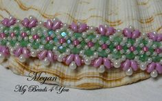 Beaded Bracelet Pearl Beaded Bracelet Seed Bead by mybeads4you- LIKE PATTERN NOT CRAZY ABOUT COLORS, WOULD DEFINITELY CHANGE