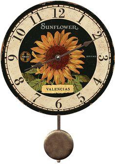Wonderful Valencias Sunflower Clock