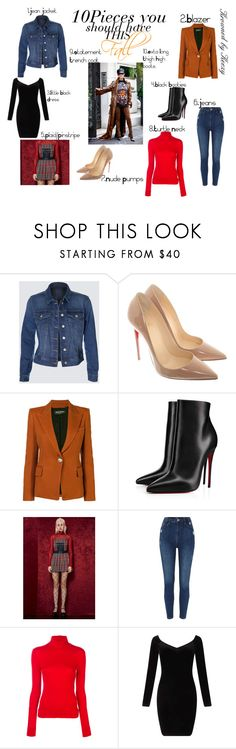 """""""fall must have"""" by arkiamiller on Polyvore featuring Christian Louboutin, Balmain, Current Mood, Calvin Klein 205W39NYC and Miss Selfridge"""