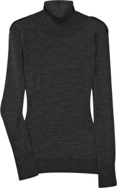 Burberry Prorsum Wool Turtleneck Sweater in Gray