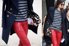 Hot Red Leather Pants