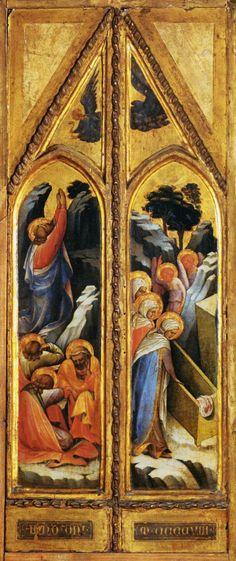 LORENZO MONACO. Altarpiece, panel. 1408. Musée du Louvre, Paris.