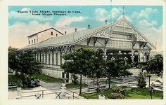 Santiago Cuba 1920s Vista Alegre Theater Collectible Antique Vintage Postcard