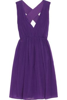 Alice   Olivia Caprice pleated cotton-blend dress | THE OUTNET