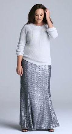 Lane Bryant - Sequin Maxi Skirt *swoon*