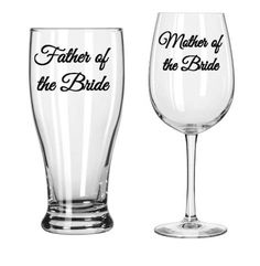Mother/Father of the Bride Wedding Wine glass Beer Cup parent gifts etched mother of the bride groom father of the bride groom funny saying by atouchofvinyl15 on Etsy