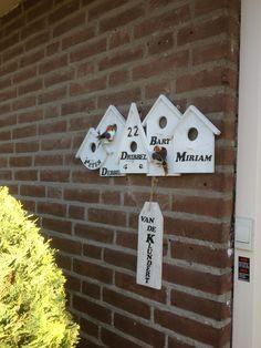 Naambordje voordeur