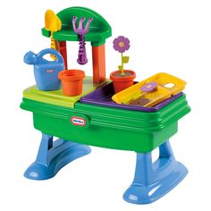 """<p>Little Tikes Role Play products inspire kids to connect with their world through dramatic, creative, and imaginary play, while promoting social interaction for everyday fun</p><p>Product Features:<br />""""Plant"""" and """"water"""" flowers!<br />Basin can hold water; drain plug included<br />Plenty of storage space<br &#47..."""