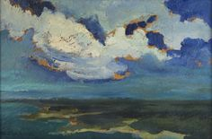 Jan Stanisławski (Polish, 1860-1907) Landscape with River, N/D  Oil on board, 16 x 23.8 cm