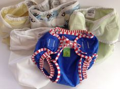 Diaper Covers 5 Thirsties ProRap Kushies Swim Diaper Baby Toddler Hook Loop M XL #ThirstiesKushiesProRap