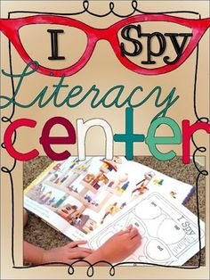 Literacy Center This is a favorite activity in my class!  Kids use an I Spy book to search for objects with specific phonics patterns.  When they find one, they write the name of the object on a fun glasses-themed recording page.  ContentsThere are 12 different pages each with a different phonics focus:short a word familiesshort e word familiesshort i words familiesshort o and short u words familiesdigraphsblendsbossy r patternsshort a/long a and short e/long eshort i/long i and short o…