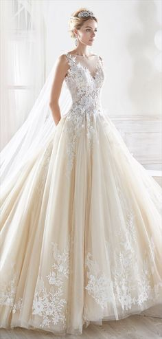 Nicole Spose 2017 fascinating princely wedding dress in tulle