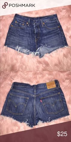 LEVI denim cutoffs Never worn! Bought the wrong size. I wish these fit, they are such good quality! Levi's Shorts Jean Shorts