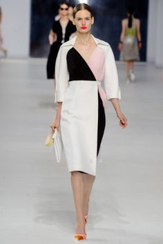 Dior color block dress