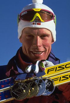 Norway's Bjorn Daehlie is a retired cross-country skier. With 8 Olympic gold medals, Dæhlie is tied with Ole Einar Bjørndalen as the most successful winter Olympic champion of all time.