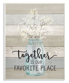 Another great find on #zulily! 'Together is Our Favorite Place' Wall Art #zulilyfinds