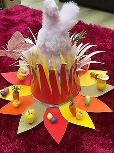 Handmade Easter bonnet / Hat Greedy Easter Bunny