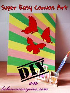 DIY Easy Canvas Art
