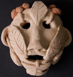 Green Man ceramic. KS3. Year 8. 2012. William de Ferrers School.