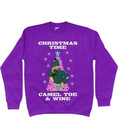 Christmas Time, Camel Toe & Wine! Rude, Funny Christmas Jumper!