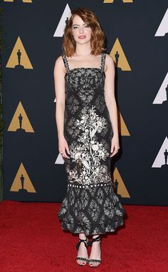 Emma Stone from Governors Awards 2016 Red Carpet Arrivals  Let the Oscar buzz begin!The La La Land star steps onto the first of many red carpets this awards season.