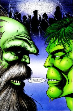 Maestro and Hulk from Future Imperfect by George Perez and Peter David Comic Art, Comic Books, George Perez, Hulk Marvel, Incredible Hulk, Time Travel, Vines, Im Not Perfect, The Incredibles