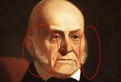 John Quincy Adamss deep, deep sideburns.