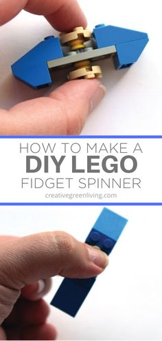 How to build an easy DIY fidget spinner. The tutorial has simple step by step instructions for making your own lego fidget from materials you already have. This is an easy kids craft to make from LEGOs at home while kids are of school. How To Make Diy, Crafts For Kids To Make, Craft Activities For Kids, Crafts For Teens, Fun Crafts, Simple Crafts, Kids Diy, Paper Crafts, Lego Spinner