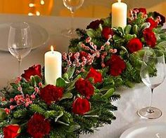 Christmas floral table arrangements 46 + Classy Christmas Table Decorations Ideas Xmas Table Decorations, Classy Christmas, Table Arrangements, Floral, Color, Ideas, Home Decor, Desk Arrangements, Decoration Home