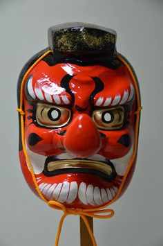 MASK.....PARTAGE OF JAPAN SPECIALIST ON FACEBOOK....Description: Traditional Japanese Yamabushi Tengu Mask....