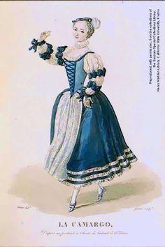 "Marie-Anne de Cupis Camargo, named ""La Camargo"" (1710-1770). Celebrate dancer."