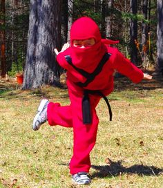 Red, Green, Gold or Blue Ninja costume