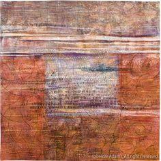 Composition IV Mixed media: acrylic paint on stitched textile Deidrea Adams