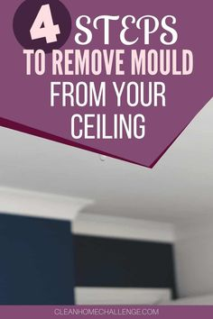 How To Remove Mould From Your Ceiling Bathtub Cleaning Tips, Clean Bathtub, Shower Cleaner, Household Cleaners, Laundry In Bathroom, Diy Cleaning Products, Clean House, Kitchen Decor, Organize